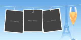 Collage of photo frames vector background Royalty Free Stock Photography