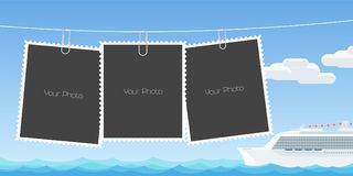 Collage of photo frames vector illustration Stock Photo