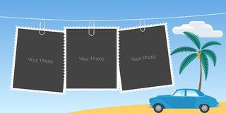 Collage of photo frames vector illustration Stock Photography