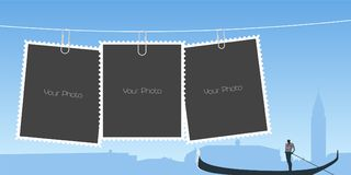 Collage of photo frames vector illustration Stock Image