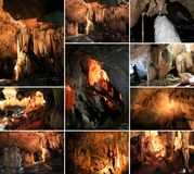 A collage photo of Lawa Caves in Kanchanaburi Stock Photography
