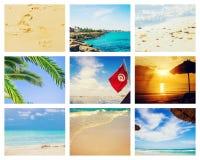 Collage photo sea Tunisia Mahdia. stock images