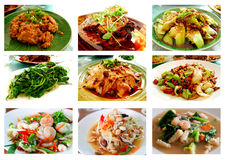 Collage from Photographs. Of Thai and chines food Royalty Free Stock Image