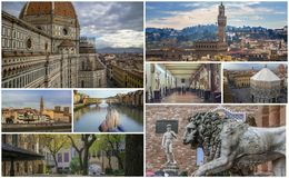 Collage of photos of attractions Florence Italy Royalty Free Stock Image