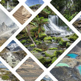 Collage of photos from Australi and New Zealand - my photos. Stock Photo