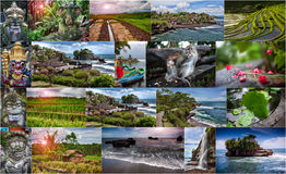 Collage of photos from Bali. Indonesia royalty free stock photos
