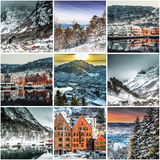 Collage of photos from Bergen Stock Images