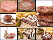 A collage of photos with burger Stock Image