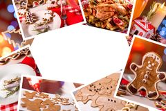 Collage of photos with Christmas decoration. Collage of photos with beautiful Christmas decoration Royalty Free Stock Photos