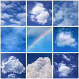 Clouds. Collage with photos of clouds Royalty Free Stock Images