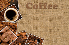 Collage with photos coffee Stock Image