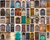 Collage photos of doors Royalty Free Stock Photography