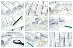 Collage of photos of drawings Stock Photo