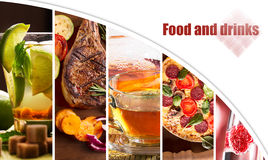 Collage from photos of food Royalty Free Stock Images
