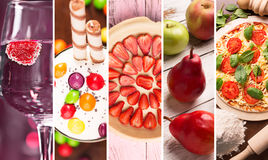 Collage from photos of food Stock Photos