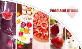 Collage from photos of food Royalty Free Stock Photos