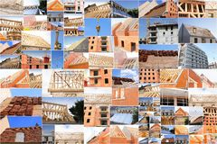 Collage of photos of the industry of construction Royalty Free Stock Photos
