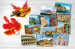 Collage from photos of Italy on white background Royalty Free Stock Photos