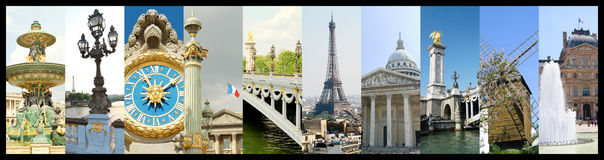 Collage of photos of Paris Royalty Free Stock Photos