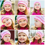 Collage of photos of smiling little girl Royalty Free Stock Image