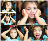 Collage of photos of smiling little girl Royalty Free Stock Photos