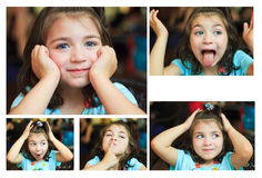 Collage of photos of smiling little girl Royalty Free Stock Photography