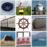Travelling. Collage with photos about travelling Stock Photos