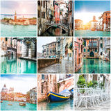 Collage of photos from Venice Stock Image