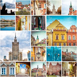 Collage of photos from Warsaw Royalty Free Stock Photo