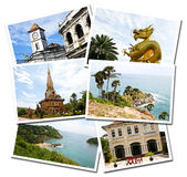 Collage of Phuket, Thailand postcards Stock Photography