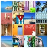 Collage of pictures of Cuba royalty free stock photo
