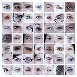 Collage of pictures with eyes Royalty Free Stock Photo