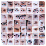 Collage of pictures with eyes Royalty Free Stock Image