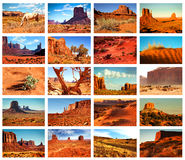 Collage pictures of Monument Valley, Arizona, USA Royalty Free Stock Images
