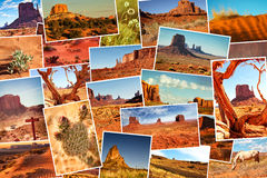 Collage pictures of Monument Valley, Arizona, USA Stock Image