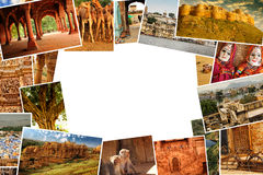 Collage pictures of Rajasthan, India Royalty Free Stock Image