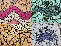 Collage of Pieces of Tile Mosaic Royalty Free Stock Photo
