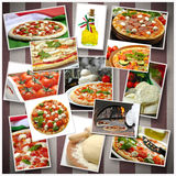 Collage Pizza Royalty Free Stock Photography