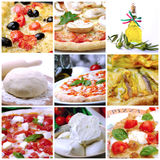 Collage Pizza Stock Photography