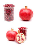Collage Pomegranate Royalty Free Stock Photography