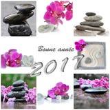 Collage por el Año Nuevo 2017 Fotos de archivo