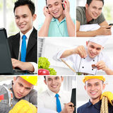 Collage portrait of active man Royalty Free Stock Photo