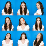 Collage of portraits Royalty Free Stock Images