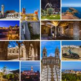 Collage of Portugal travel images my photos. Nature and architecture background Royalty Free Stock Image