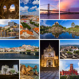 Collage of Portugal travel images my photos. Nature and architecture background Royalty Free Stock Photo