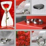 Collage pour le mariage Images stock