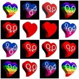 Collage pour toutes sortes d'amour Photos stock
