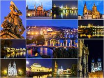 Collage of Prague, the Czech Republic stock photo