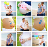 Collage of pregnant Stock Images