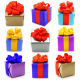 Collage of presents Stock Image